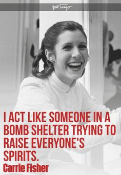 25 Hilarious And Inspiring Carrie Fisher Quotes To Celebrate Princess Leia & Star Wars Day Leia Star Wars, Star Wars Day, Great Quotes, Quotes To Live By, Inspirational Quotes, Princess Leia Quotes, Carrie Fisher Quotes, Status Quotes, Quotes Quotes