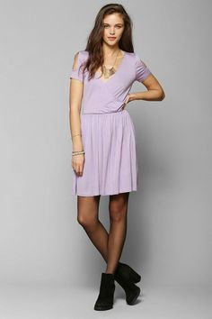 Pins And Needles Knit Surplice Dress #urbanoutfitters