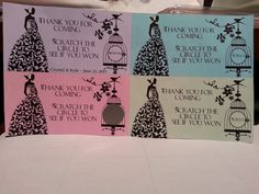 20 Bridal Shower Scratch Off Tickets by msmemories101 on Etsy