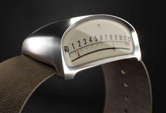 Diseño de un reloj inspirado en los medidores de autos clásicos