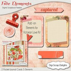 Victorian Love Digital Scrapbook Kit w Coral by DigiScrapDelights