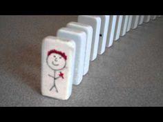 o poder de uma criança falando de jesus - lição do dominó
