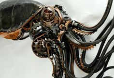 Steampunk Squidipus by Alan Williams metal artist