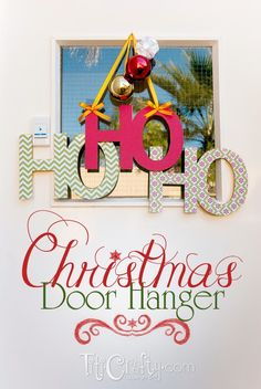TitiCrafty by Camila: HO HO HO Christmas Door Hanger DIY Decoration + Cut File