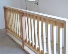 DIYing a Wood Handrail - this would be great for a rail around the kids playhouse or around the porch as well.