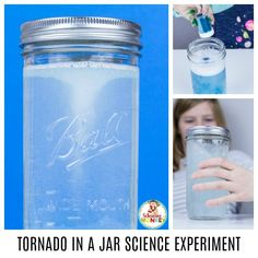 Easy Science for Kids: Making a Tornado in a Jar Preschool Weather, Weather Science, Summer Science, Weather Activities, Science For Kids, Science Activities, Tornado In A Bottle, Tornado In A Jar, Easy Science Experiments