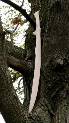 Wooden sword elven sword recycled wood by AtelierSaintCerf on Etsy