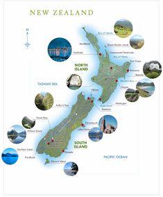 New Zealand Tourist Map Map Of New Zealand, New Zealand Flag, New Zealand Travel, Auckland, New Zealand Population, Boot Camp, Tasmania, Islas Cook, Wellington New Zealand