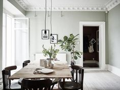 Gothenburg Home In Soft Grey And Green (Gravity Home) Green Rooms, Light Green Walls, Home, Spanish Home Decor, Home And Living, The Way Home, Living Room Grey, Sage Living Room, Room