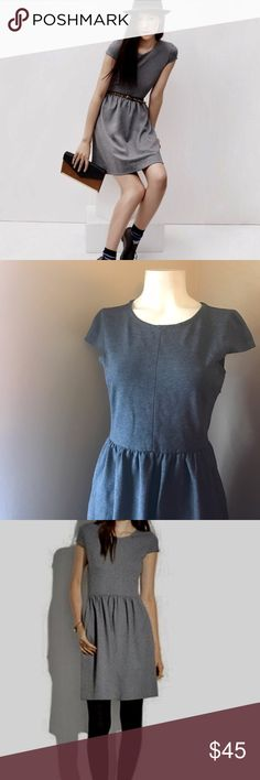 Madewell Ponte Screenplay Dress NWT New with tags and never worn Madewell dress. Great staple and literally made well. 68% viscose, 28% polyamide and 4% spandex. Zipper on the side. Dark Grey charcoal color; Sold out in stores and online. Stretchy flattering fit and flare dress, could fit both a small and medium. Madewell Dresses Mini