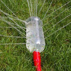 water bottle sprinkler