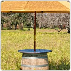 Wine Barrel Umbrella Table Top 30''