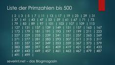 Liste der Primzahlen bis 500