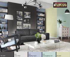 Dobór koloru / Inspiracje Living Room Remodel, Free Prints, Decoration, Home Remodeling, Sweet Home, Shelves, Couch, Table, Design