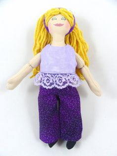 Blonde Dress Up Doll  Handmade Toy For Girls by JoellesDolls
