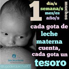 Un día, una semana, un mes, un año..o muchos de cada uno.. Cada gota de #lechematerna  que le des a tu hijo/a cuenta; cada gota es un tesoro.  #Cadagotacuenta #AmamantaRD #normalizandolalactancia  #LLLRD