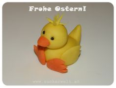 ZUCKERWELT: Küken - Chick Tutorial for fondant.0, could be used for polymer clay as well.