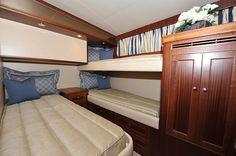 Ocean Alexander 65-Mid Twin Stateroom-Custom Yacht Interior Design-Destry Darr Designs