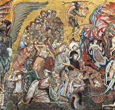 Coppo di Marcovaldo - Il Giudizio Universale (Inferno) - c. 1260-1270 - mosaico - Battistero di San Giovanni a Firenze