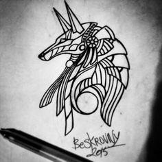 #Egypt #Anubis #god #religion #ink #tattoo #art #oldschool #tattooing #beskrovny