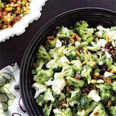 Kids and adults alike will have no problem eating their greens in the form of this broccoli and cauliflower salad.