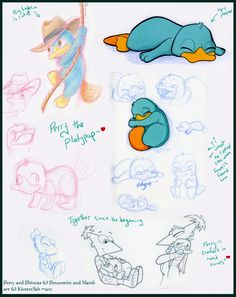 Perry the Platypup by *KicsterAsh on deviantART. This is the cutest thing I've ever laid eyes on.