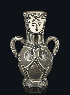 Pablo Picasso Ceramics   Vase deux anses hautes (A.R. 213)