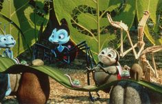 """A Bug's Life (1998)  A Bug's Life takes the theme of the insect world. For term life no picnic ants! For every year a group of grasshoppers come to the anthill to receive foodstuffs that have collected the ants.  The habit lasted from year to year and that they usually refer to as """"sacrifice"""" for the locusts. Flik, an ant who called himself the thinker, in fact has long wanted the tradition changed"""