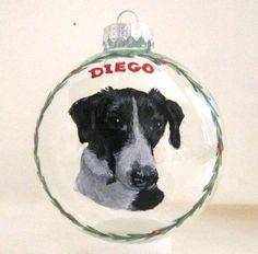 McNab Shepherd Herding Dog Custom Portrait Glass by petzoup