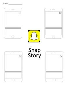 Here is a Snapchat template made in Google Slides that you