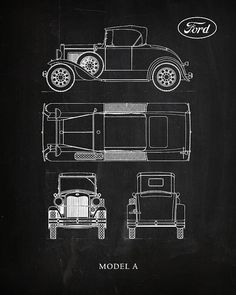 Ford Model A Print By Mark Rogan