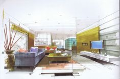 interior hand rendering - Google Search