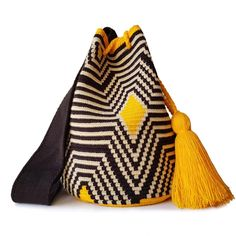 This beautiful, one-of-a-kind was carefully made using a double thread technique for the b Form Crochet, Knit Crochet, Crochet Patterns, Tapestry Bag, Tapestry Crochet, Mochila Crochet, Ethnic Bag, Crochet Purses, Knitted Bags