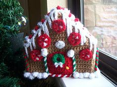 handmade crochet gingerbread house by EdwardRad on Etsy, $65.00