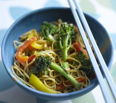 TENDERSTEM BROCCOLI AND PEANUT NOODLES. These really simple broccoli and peanut noodles are packed with fresh vegetables and crunch. Leave out the ginger and red chilli if you prefer your food with less of a kick. Find more savoury recipes at housebeautiful.co.uk