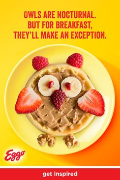 Science lessons your kids will devour. Try using Eggo waffles to teach zoology and other subjects. Cute Food, Good Food, Yummy Food, Breakfast For Kids, Breakfast Recipes, Chocolate Slim, Healthy Snacks, Healthy Recipes, Health Eating