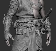 Make sure to scroll all the way down too see ALL the detailssmiley) This is my latest personal project that I was doing for a while. After playing God of war (ye, I`m still impressed by visual of this game) and Sekiro I was fascinated by the Character Creation, 3d Character, Character Design, Samurai Anime, Samurai Armor, Zbrush Models, 3d Models, Zbrush Tutorial, Epic Art