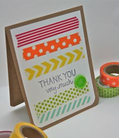 keep it short and sweet with washi tape