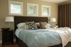 Brown and Blue bedroom: another take on the brown and blue bedroom
