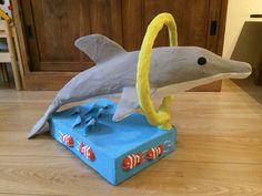 Surprise dolfijn van papier mache