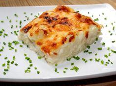 Csőben sült karfiol Lasagna, Cheese, Ethnic Recipes, Recipe Ideas, Foods, Food Food, Food Items, Lasagne