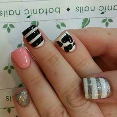 Different Nail Designs Do At Home Great Nails, Love Nails, How To Do Nails, Fun Nails, Different Nail Designs, Cute Nail Designs, Simple Designs, Nail Polish Art, Nail Polish Colors