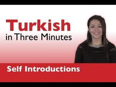 Learn Turkish - Turkish in Three Minutes - How to Introduce Yourself in Turkish Turkish Lessons, Learn Turkish Language, Turkic Languages, Professional School, Word Patterns, School Health, Language Lessons, Second Language, Pointillism