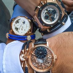A pleasure in NYC today meeting two gentlemen and watch connoisseurs @FlyBackNYC & @FremStar  - Audemars Piguet x Breguet x  Jaeger Le Coultre x #StingHD -www.StingHD.com-