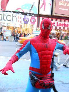 I found Spiderman in Times Square!