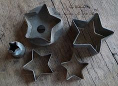 ANTIQUE STAR COOKIE CUTTERS.