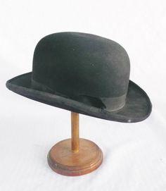 1920 s Vintage Black Felt Bowler Hat by Lionel by MyVintageHatShop Top Hats 1453d9ca7142
