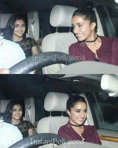 Shraddha Kapoor and Alia Bhatt very happy to he arriving at Akshay Kumar's house for the Will Smith party. @Bollywood ❤ ❤ ❤