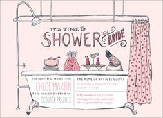 Showered With Love Bridal Shower Invitation