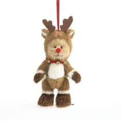 Boyd's Bears Rudolph the Red Nosed Reindeer Bear Christmas Ornament 2013